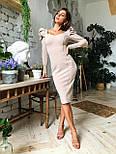 Жіноче дороге плаття по фігурі з воланами (ідеальна посадка), фото 6
