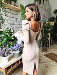 Жіноче дороге плаття по фігурі з воланами (ідеальна посадка), фото 5