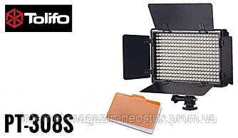 Накамерная светодиодная LED панель Tolifo PT-308S