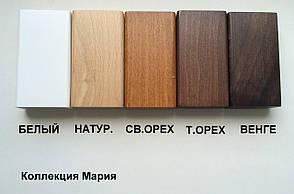 Кровать двуспальная деревянная без изножья (интарсия) Сити Микс мебель, цвет на выбор, фото 2