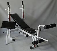 Набір універсальна лава PLGsport K105 і приставні тренажери скотта і для ніг