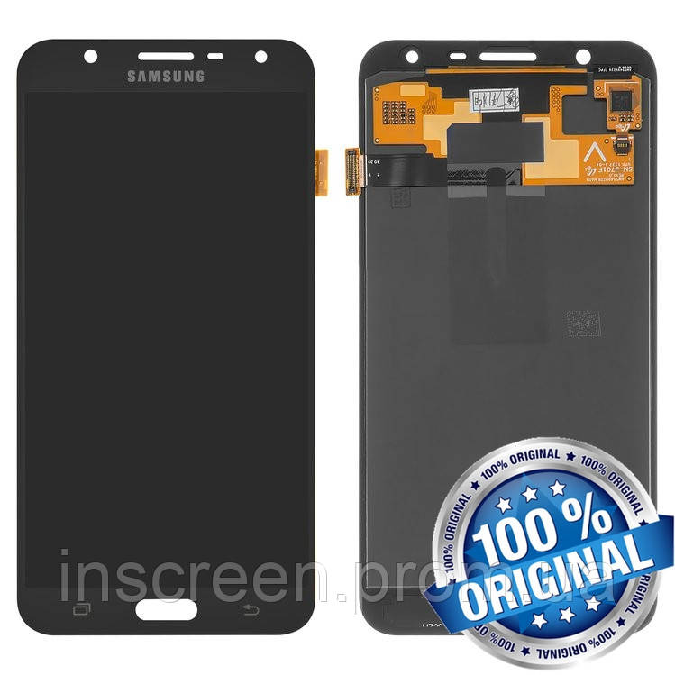 Дисплейний модуль для Samsung Galaxy J7 Neo J701F чорний (GH97-20904A) Оригінал, фото 2
