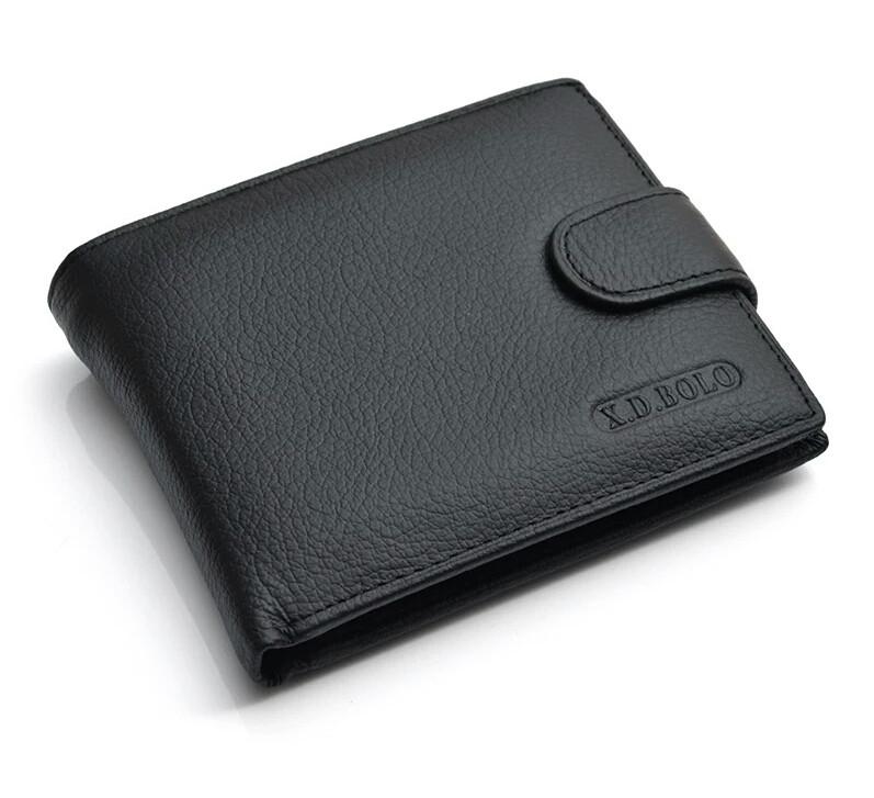 Кошелек X.D.BOLO  портмоне кожаный черный  09012 k 5