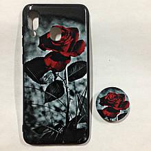 Чехол для Samsung A30 RealU Rose