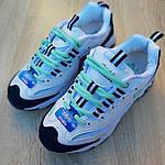 Женские кроссовки Skechers D'Lites (бело-синие с бирюзой), фото 4