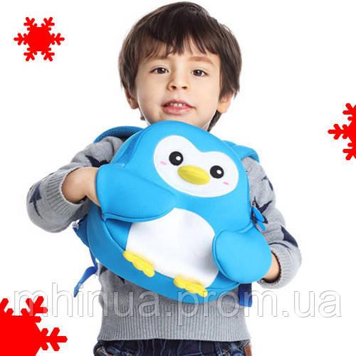 Дитячий рюкзак Nohoo Пінгвін Блакитний (NH065)