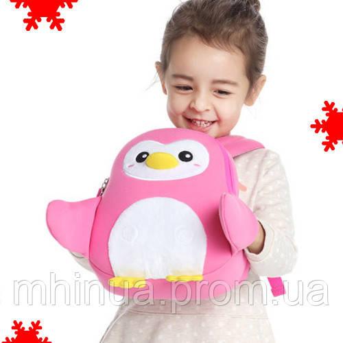 Дитячий рюкзак Nohoo Пінгвін Рожевий (NH065)
