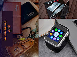 Мужской набор № 8 (Умные Смарт Часы Smart Watch GT-08+Клатч Baellerry Leather+...)