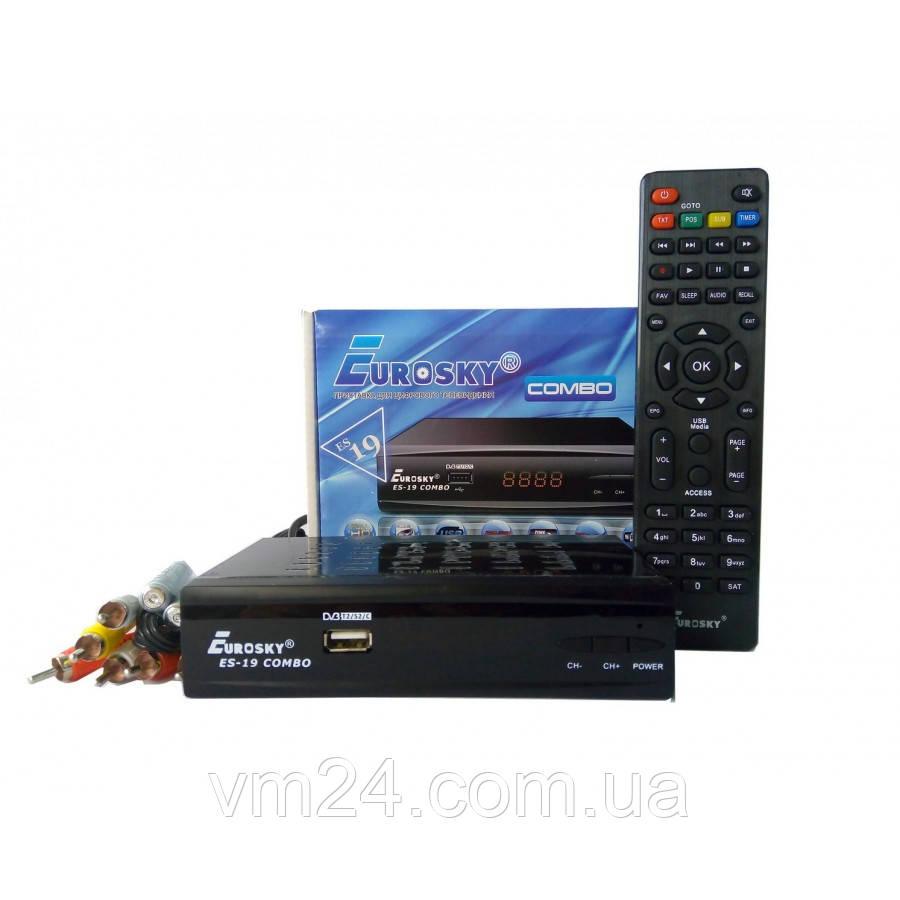 Комбинированный ресивер EuroSky ES-19 HD COMBO T2+S2