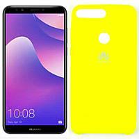 Чехлы U-Like Чехол силиконовый для Huawei Y7 Prime 2018 Лимонный (27627)