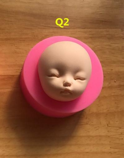 """Силиконовый молд """"Лицо"""" Q2"""