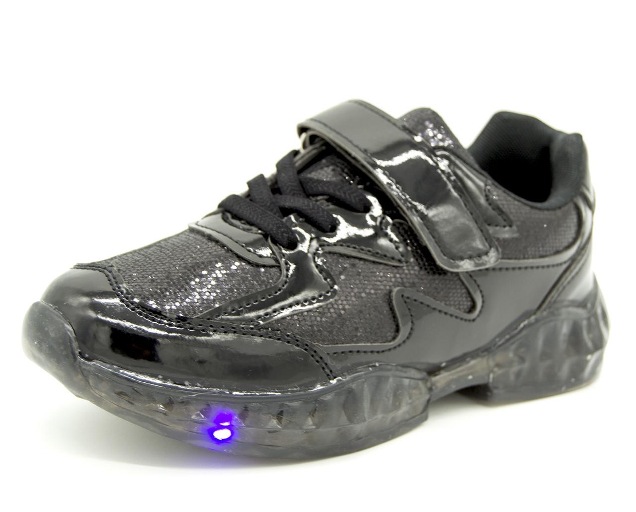 Мигаючі кросівки для дівчинки Чорний Розміри: 31