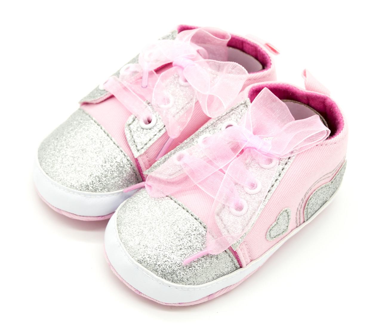 Пінетки-кросівки для дівчинки Світло-рожевий