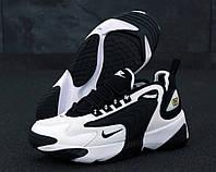 Кроссовки мужские черно-белые демисезонные Nike Zoom 2K Найк Зум 2К
