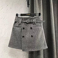 Женская короткая серая юбка
