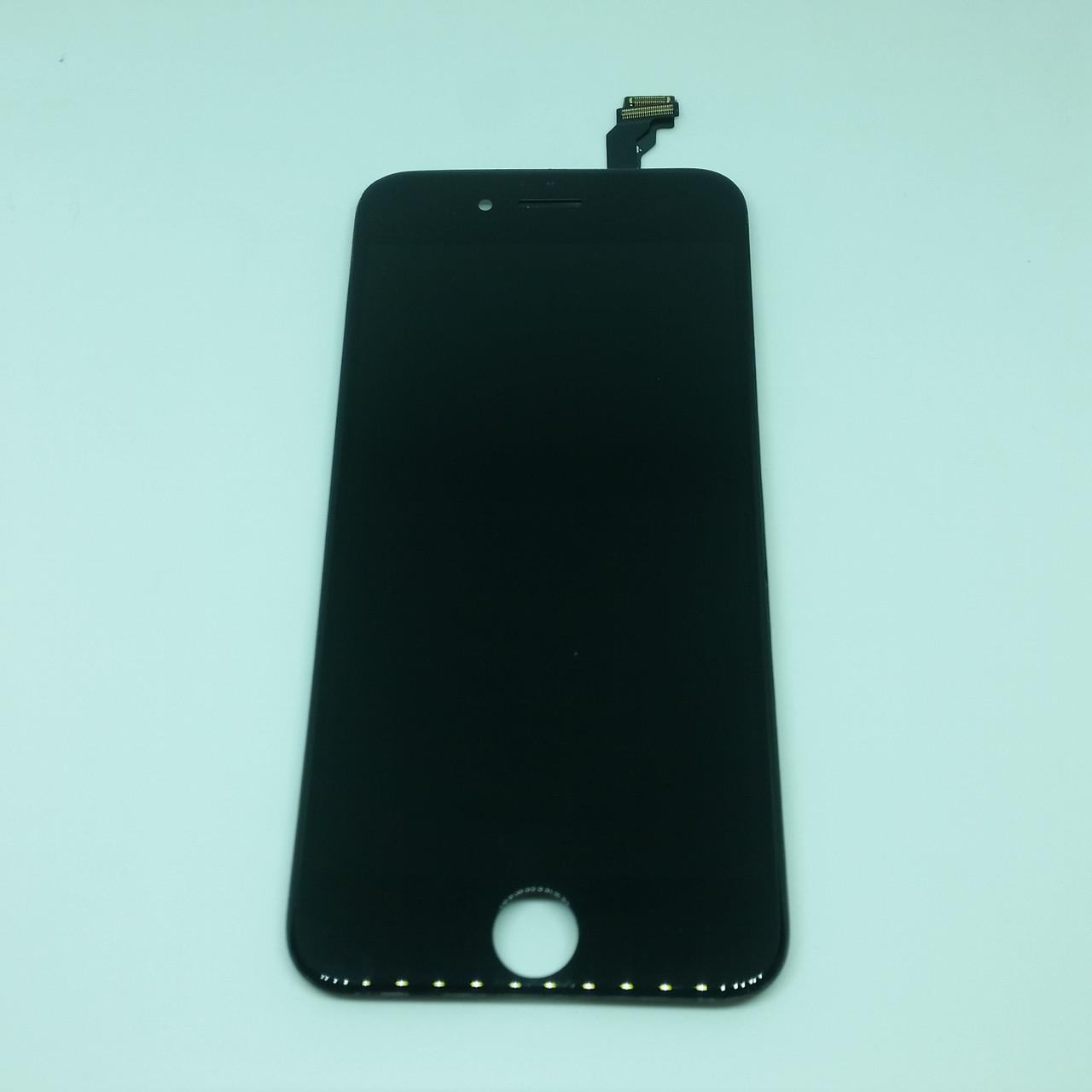 Оригинальный дисплейный модуль с переклеенным стеклом Apple iPhone 6 Black