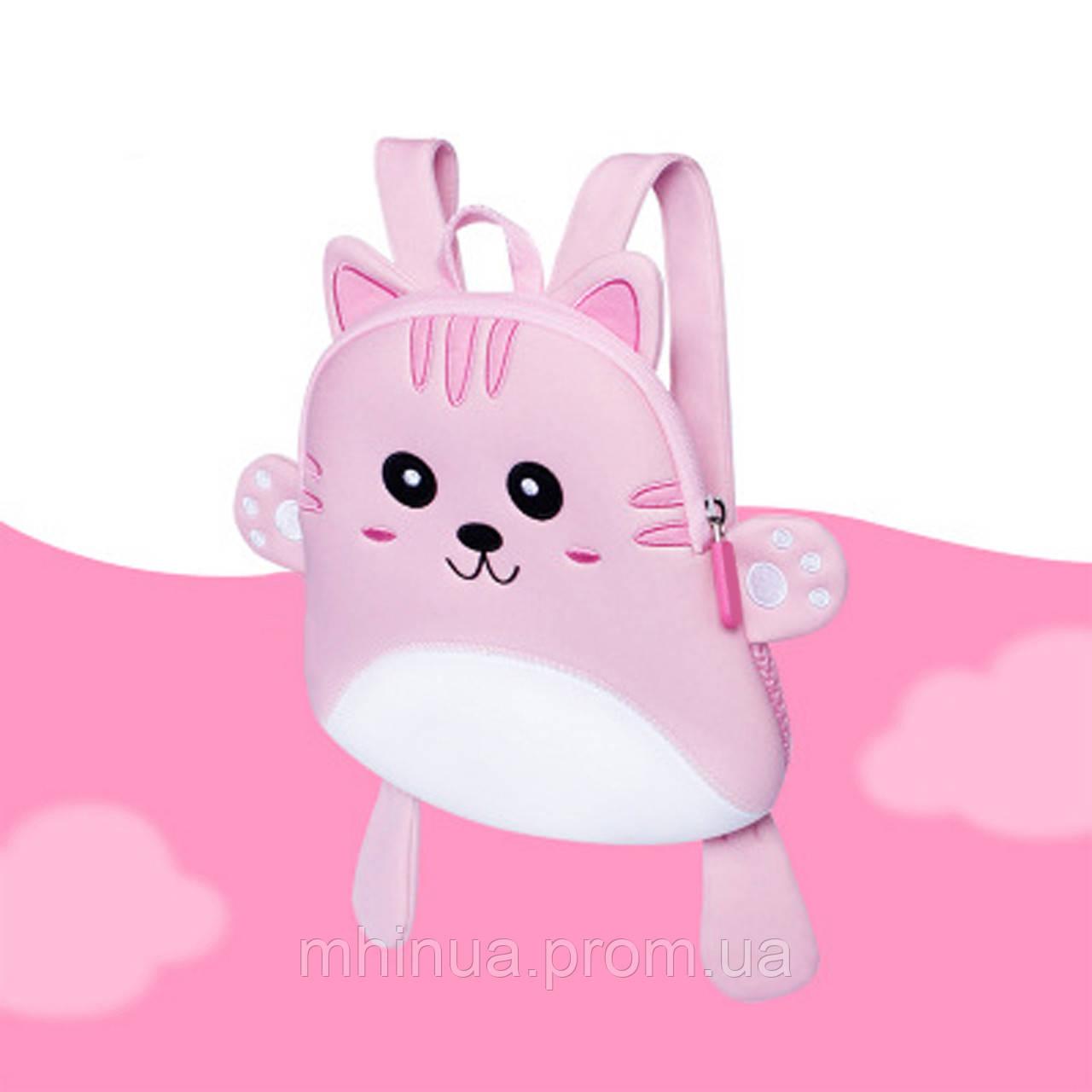 Дитячий рюкзак Nohoo Кішечка Рожева (NH055 Pink)