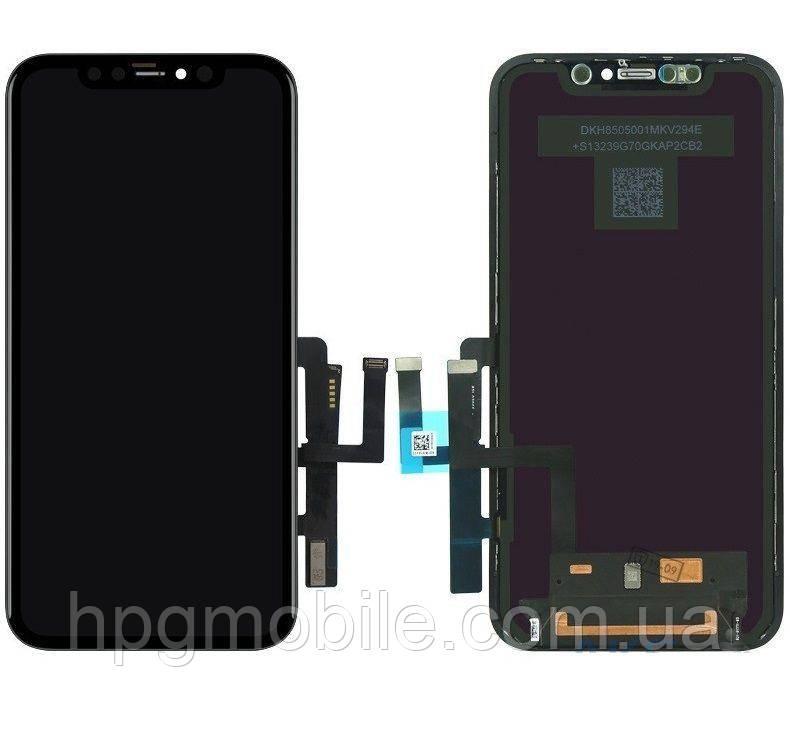 Дисплей для iPhone 11, модуль в сборе (экран и сенсор), с рамкой, с разборки, оригинал (100%)