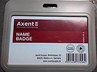 "Бейдж-слайдер ""Axent"" (85*54) горизонтальный, теплый серый 4500H-03-А"
