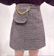 Женская короткая юбка в мелкую клетку размер S
