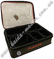 Коробка (cумка) Kaida с набором емкостей для рыболовных снастей