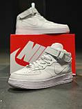 Кроссовки  высокие натуральная кожа Nike Air Force Найк Аир Форс, фото 7