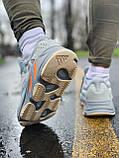 Кроссовки натуральная кожа Adidas Yeezy Boost 700 Адидас Изи Буст, фото 3