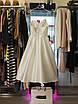 Вечернее свадебное минималистичное атласное миди платье с открытой спиной айвори белое нарядное, фото 6