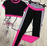 Женский стильный костюм-двойка для фитнеса (расцветки), фото 8