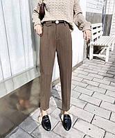 Женские укороченные брюкис высокой посадкой