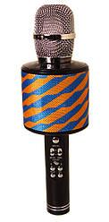 Караоке-микрофон портативный Kronos Toys DM K-319 сине-желтый (gr_010010)