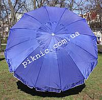 Зонт торговый, садовый 2,8м с клапаном 12 спиц. Усиленный зонт для торговли на улице. Синий!