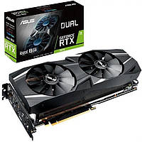 Видеокарта GF RTX 2070 8GB GDDR6 Dual Advanced Edition Asus (DUAL-RTX2070-A8G)