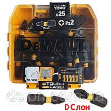 Набор бит DeWALT DT70556T, Pz2, L= 25 мм, 25 шт, Pozidriv, кейс