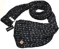 Женский шарф вязаный C&A черный