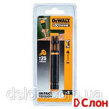 Набор бит DeWALT DT70569T T25 L= 89 мм, 2 шт ударные, Torx, ,