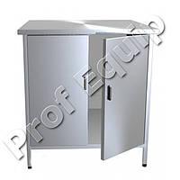 Производственный-стол тумба с двумя распашными дверями и одной полкой
