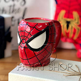 """Чашка фігурна """"Людина Павук"""", супергерої, Кружка керамическая """"Спайдермен"""""""