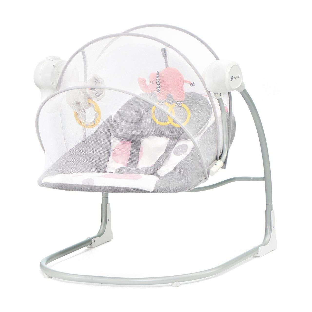 Кресло-качалка Kinderkraft Minky Pink 8 мелодий ВИДЕО ОБЗОР