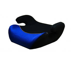 Автокресло для детей, бустер Marco (25-36 кг), группа 3, черный с синим.