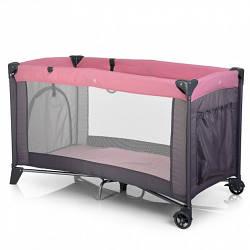 Манеж EL Camino ME 1016-8-11 SAFE Розовый с серым (gr_007730)