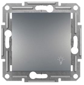 Кнопочный выключатель (Свет) Сталь  Asfora Schneider Electric