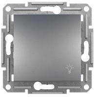 Кнопочный выключатель (Свет) Сталь  Asfora Schneider Electric, фото 1