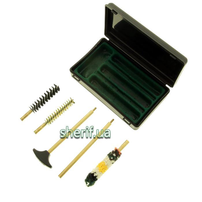 Набор для чистки пистелета 9 мм в кейсе STIL CRIN (ШОМПОЛ+3 ЕРША) кал.9/38/357 (12752)