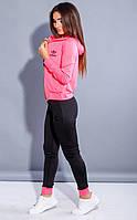Женский спортивный костюм фитнес тройка (розовый)