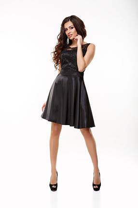 """Шикарное женское платье с вышивкой и пайетками ткань """"Атлас"""" 42, 44, 46 размер норма, фото 2"""