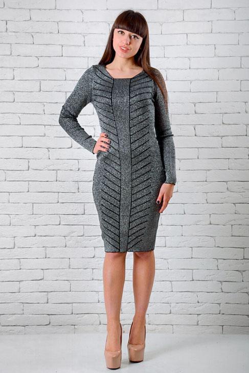 Платья женские интернет магазин  42-48 темно-серый