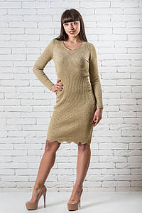 Повседневное платье женское интернет магазин  42-48 золото