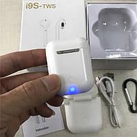 Беспроводные наушники I9s TWS Bluetooth 5.0+ чехол и карабин