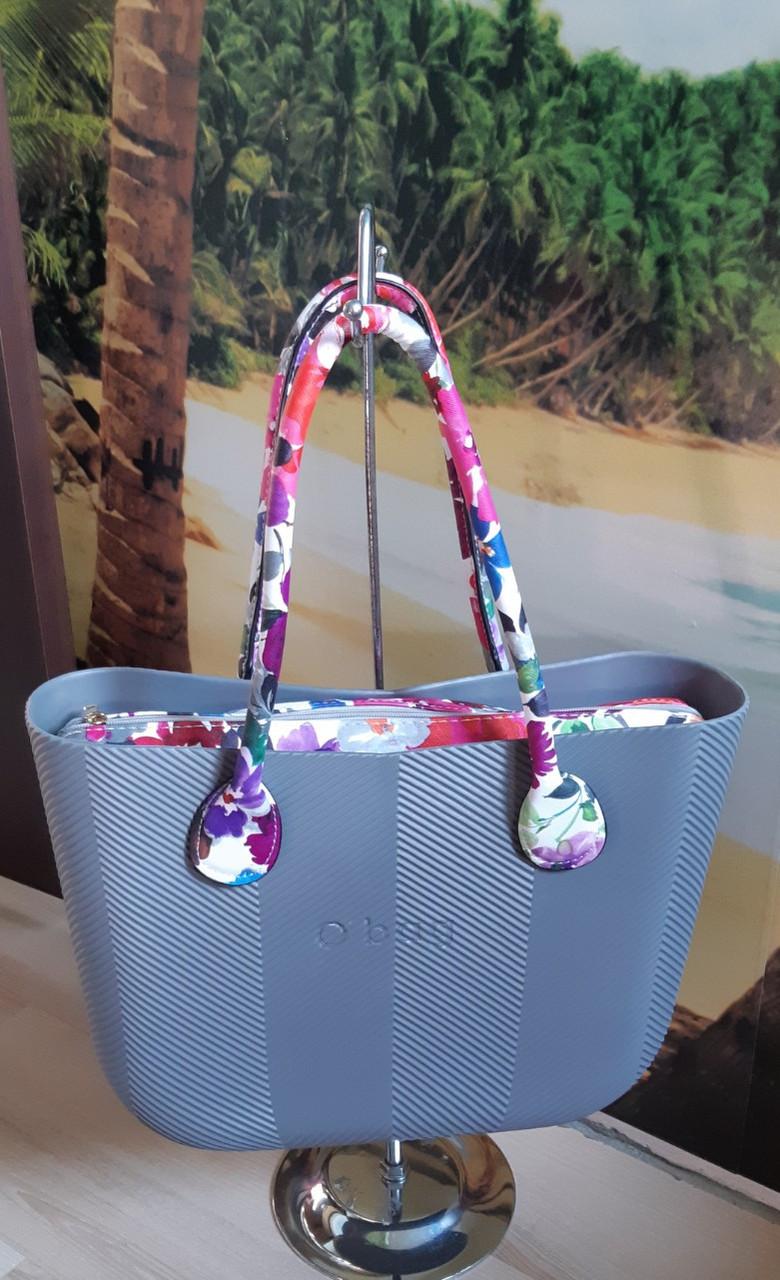 Женская сумка O bag classic в сером переплете  корпуса